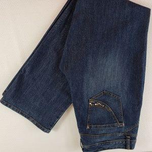 Bandolino stretch jean Kelsey Boot cut size 14 rhi